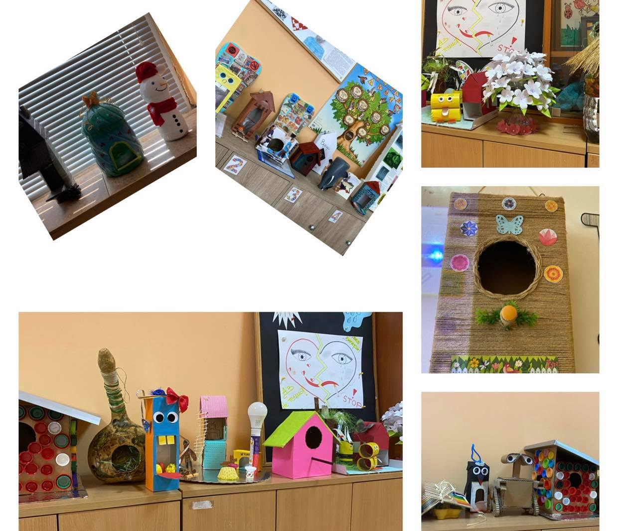 Рециклирани материали се превърнаха в авторски творби на малките първокласници